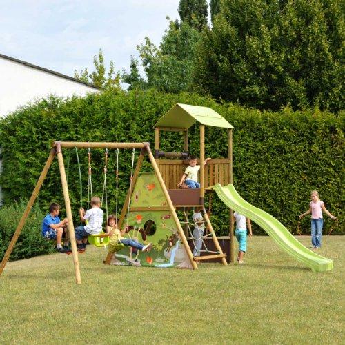 Conseils pour choisir un portique avec toboggan meilleur trampoline for Portique en bois avec toboggan