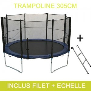 le trampoline 305cm de happy garden meilleur trampoline. Black Bedroom Furniture Sets. Home Design Ideas