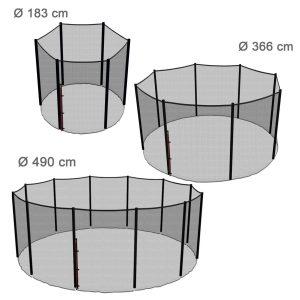 12 mousses de Protection//piquets Non Inclus//Filet ext/èrieur Pi/èces de Rechange Ampel 24 Filet de s/écurit/é pour Trampoline 430 cm et 6 Barres