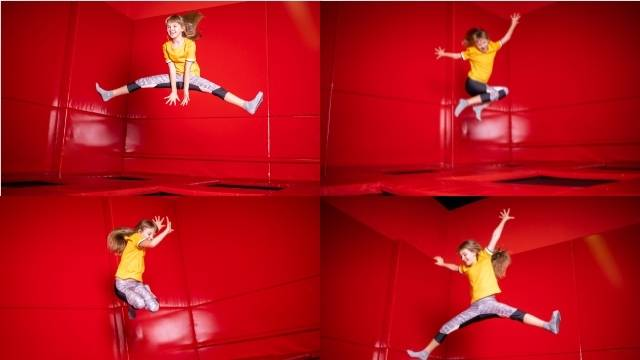 Quelques exercices en trampoline