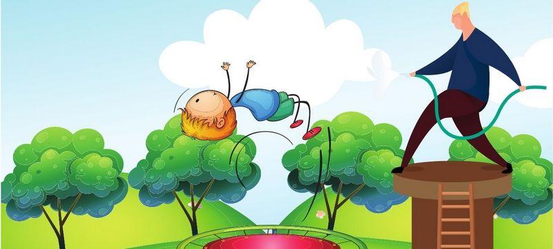 Arroseur trampoline