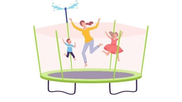 Arroseur de trampoline simple