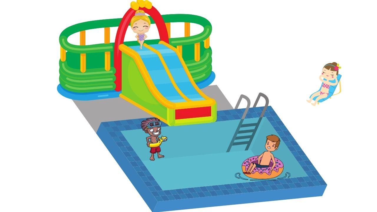 Un château gonflable pour piscine